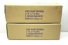 10,000 Heavy Duty Open End LDPE Clear Polybags Bags 3 Mil .003 Crease Heat Seal