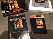 MechWarrior 3050 (Super Nintendo Entertainment System, 1995) Complete