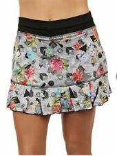 "NEW! size XL SOFIBELLA 14"" Tennis & Golf Skort   pink , black floral"