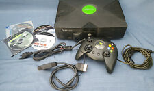 XBOX Classic Console schwarz 1 Controller DVD-Adapter 4 Spiele E3580