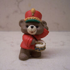1992 Hallmark Merry Miniature Christmas Bear With Drum #2 in Music Maker Bears
