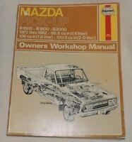 Mazda Pickup Owners Workshop Manual 1972-1982