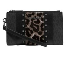 Michael Kors Studded Leopard Print Calf Hair Wallet for IPhone 8 Plus $198 NWT