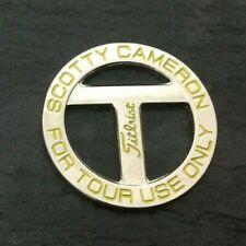 SCOTTY CAMERON Golf ball marker Titleist T Tour YELLOW Logo NEW Mint