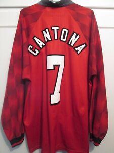 Manchester United Cantona 1996-1998 Long Sleeves Football Shirt Trikot XL
