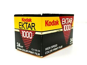 Kodak Ektar 1000 High Speed 35 mm 24 Exposure Color Print Film Expired Vintage