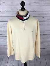 TOMMY HILFIGER Retro Zip Neck Sweater - Large - Great Condition