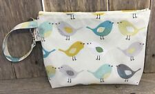 Nappy Bag,Baby Wipes Holder,Diaper Wallet,Diaper Bag,birds oilcloth,Nappy Clutch