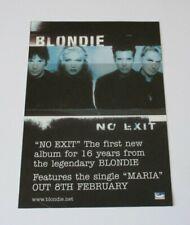 """Blondie. """" No Exit """" Album Advert"""