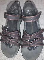 Teva Women's Tirra Sport Sandals gray Pink Outdoor Hiking Shoe Size 9
