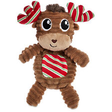 """Time For Joy PUPPERMINT FLATTIE MOOSE Dog Toy Squeakers Holiday Christmas 10.5"""""""