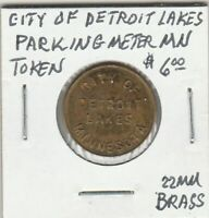 (Z)  Token - Detroit Lakes, MN - Parking Meter Token - 22 MM Brass