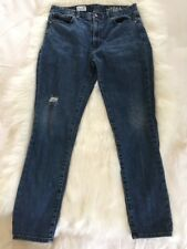 Gap 1969 Always Skinny High Rise Jeans Size 28 Distressed Stretch Women's