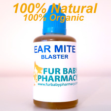THE MOST EFFECTIVE EAR MITE BLASTER FOR DOGS CATS RABBITS ANIMALS HUGE 50ML