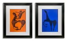2 Marino MARINI Original Ltd EDITION Lithographs (2pc Set) SIGN w/Frame Included