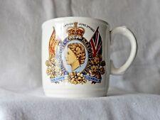 Queen Elizabeth Coronation Commemorative mug by Royal Tudor Ware