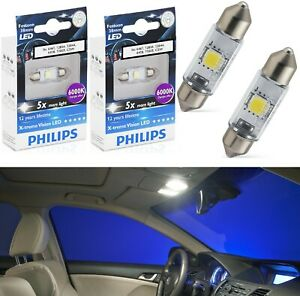 Philips X-Treme Vision LED Light 6418 White 6000K Two Bulbs Dome Replacement OE