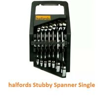 Halfords Stubby Combination Spanner Advance Size 10mm - 19mm Single