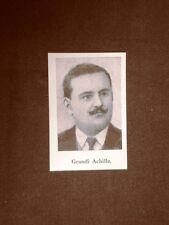L'Onorevole Grandi Achille nel 1924 Deputato in Italia