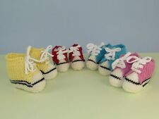 PRINTED  INSTRUCTIONS-BABY BASKETBALL BOOTS & SNEAKERS BOOTIES KNITTING PATTERN