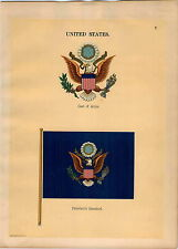 1899 United States Coat Of Arms President's Standard Maritime Ship Flag PRINT