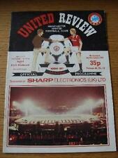 07/11/1984 Manchester United v PSV Eindhoven [UEFA Cup] (Token Removed, Creased/