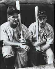 "LOU GEHRIG AND JOE DiMAGGIO - 8"" x10"" Glossy PHOTO- 1930's- NEW YORK YANKEES"