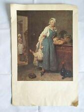 La Pourvoyeuse Jean-Baptiste Simeon Chardin Bristol Lithograph Print Repro