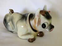 Rare Vintage Ceramic Cow Bank Cow Piggy Bank - Bobble Head Cow Piggy Bank