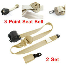 2 Set Adjustable Seat Belt Car Accessories Belt Universal 3 Point Safety Travel