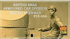 1:35 Copper State Models #F35-006 - British RNAS Armoured Car seated crewman