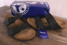 Birkenstock Arizona Birko-Flor Sandals Women's 10 Med Mens 8 Cork Shoes Black 41