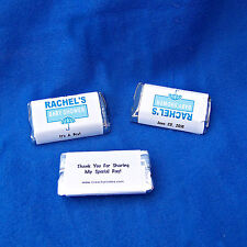 56 Personalized Baby Shower Boy Miniatures Candy Wrappers Favor Labels Stickers