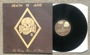 """Death In June The Guilty Have No Pride Rare France LP 12"""" PS Punk Indie Gothic"""