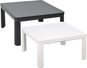 Kotatsu table Yamazen SEU-752(W) SEU-752(W) 75cm square Reversible white