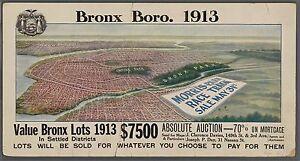 1913 BIRD'S EYE VIEW BRONX NY MORRIS PARK SALE RACE TRACK COPY POSTER MAP 30X36