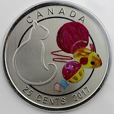 Canada 2017 25-cents Love My Cat Nickel Plated Steel Specimen Coin, Customizable