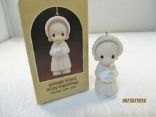 Precious Moments~Ornament~Dated 1986~Wishing You A Cozy Christmas~102326~Girl