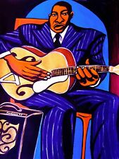 BIG BOY CRUDUP PAINTING look on yonder's wall cd delta blues kay archtop guitar