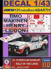 DECAL 1/43 FIAT 131 ABARTH T.MAKINEN 1000 LAKES 1977 (FULL) (01)