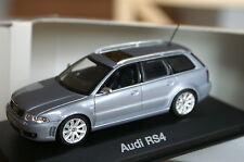1:43 audi rs4 avant b5 Silver avus plata Minichamps pma maqueta de coche car Nero