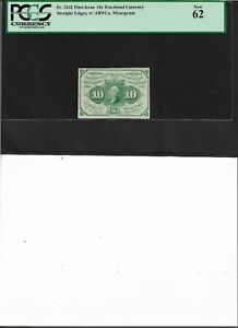 Fractional Currency Fr.1242 First Issue 10c  New 62