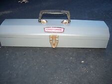 VINTAGE   CRAFTSMAN TOOL BOX  WITH LOT OF CRAFTSMAN WRENCHES.
