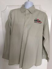 Mario Andretti Racing School - Beige, Button Down, Long Sleeve Shirt - Size XXL