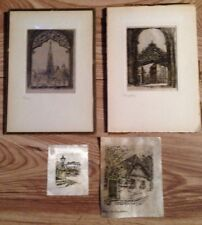 MINIATURE INK ON SILK DRAWING X 4 Date 1954