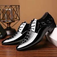 New Men Lace Up Oxfords Dress Tuxedo Formal Shoes Cap Toe Business Leather Shoes