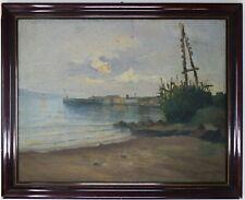 Painting Picture Ölgemälde DIPINTO a Olio su Legno 1932 Marina
