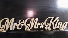 Mr and Mrs Mr&mrs Freestanding Sign Plaque With Surname Custom Made Centrepiece