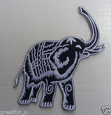 Iron on patch Elephant silver color sew on jackets or hat+for gift handmad