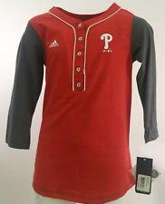 Philadelphia Phillies Official MLB Adidas Kids Youth Girls Size 3/4 Sleeve Shirt